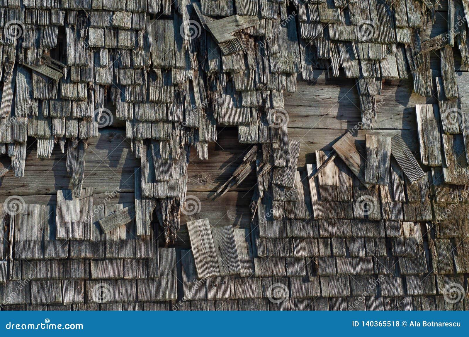 Celeiro rústico velho Parede exterior de madeira bávara velha