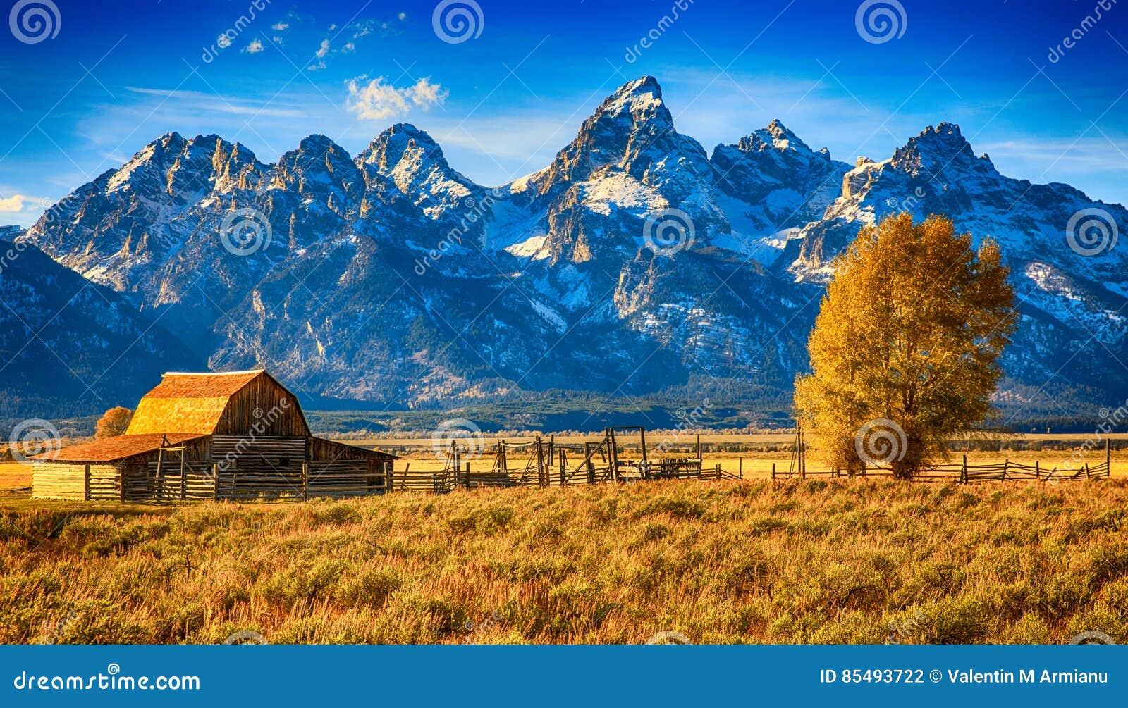 Celeiro Teton grande de Moulton, Wyoming