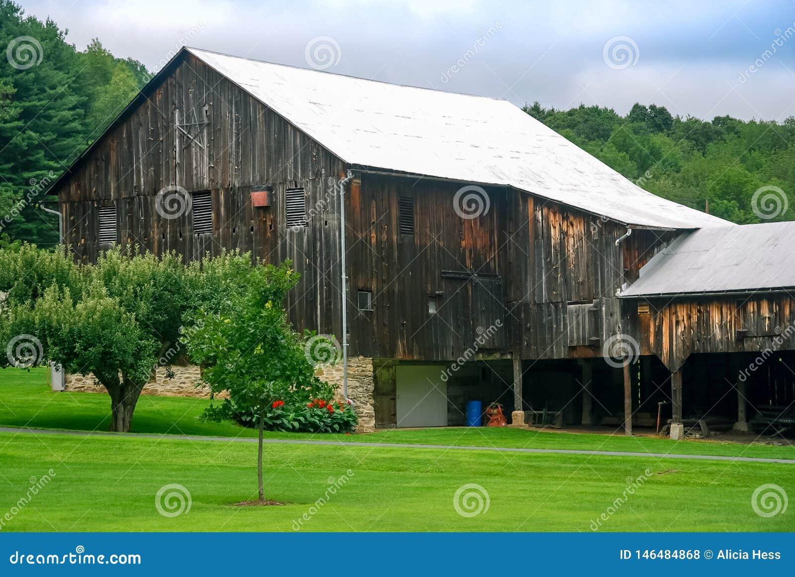 Celeiro velho Amish Pensilvânia da estrela