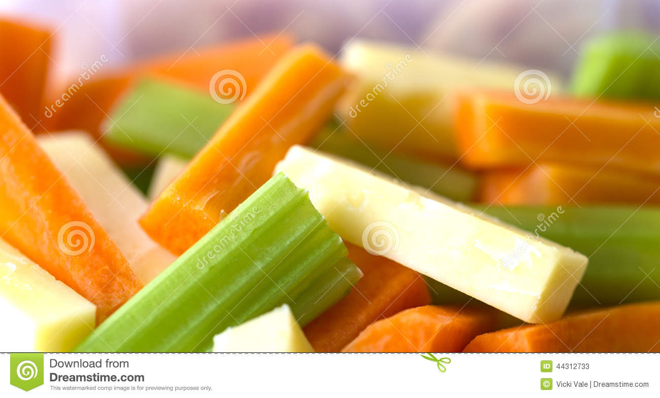 Celery Carrot And Cheese Sticks Stock Image Image Of Vegetables Piece 44312733