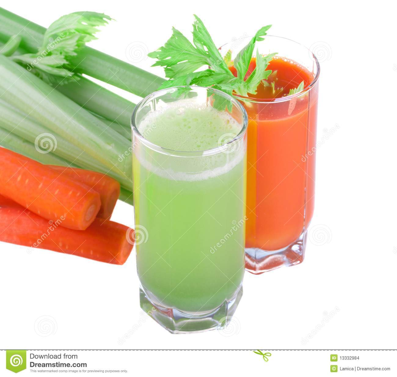 Glass With Celery And Carrot Juice Celery And Carrot