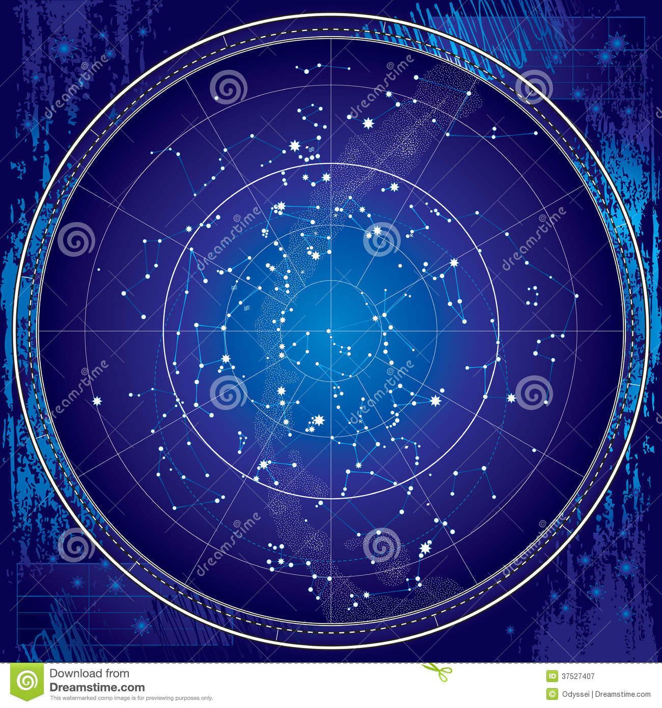 Celestial map of the night sky blueprint stock vector royalty free stock photo malvernweather Images