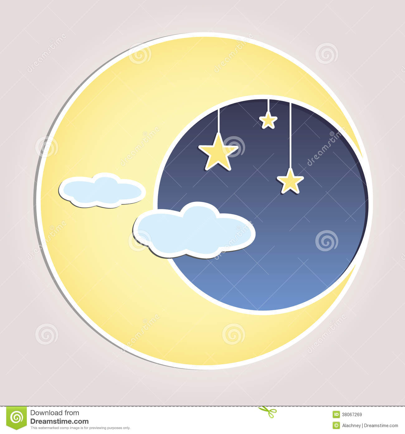 Celestial Moon Vector Illustration Royalty Free Stock