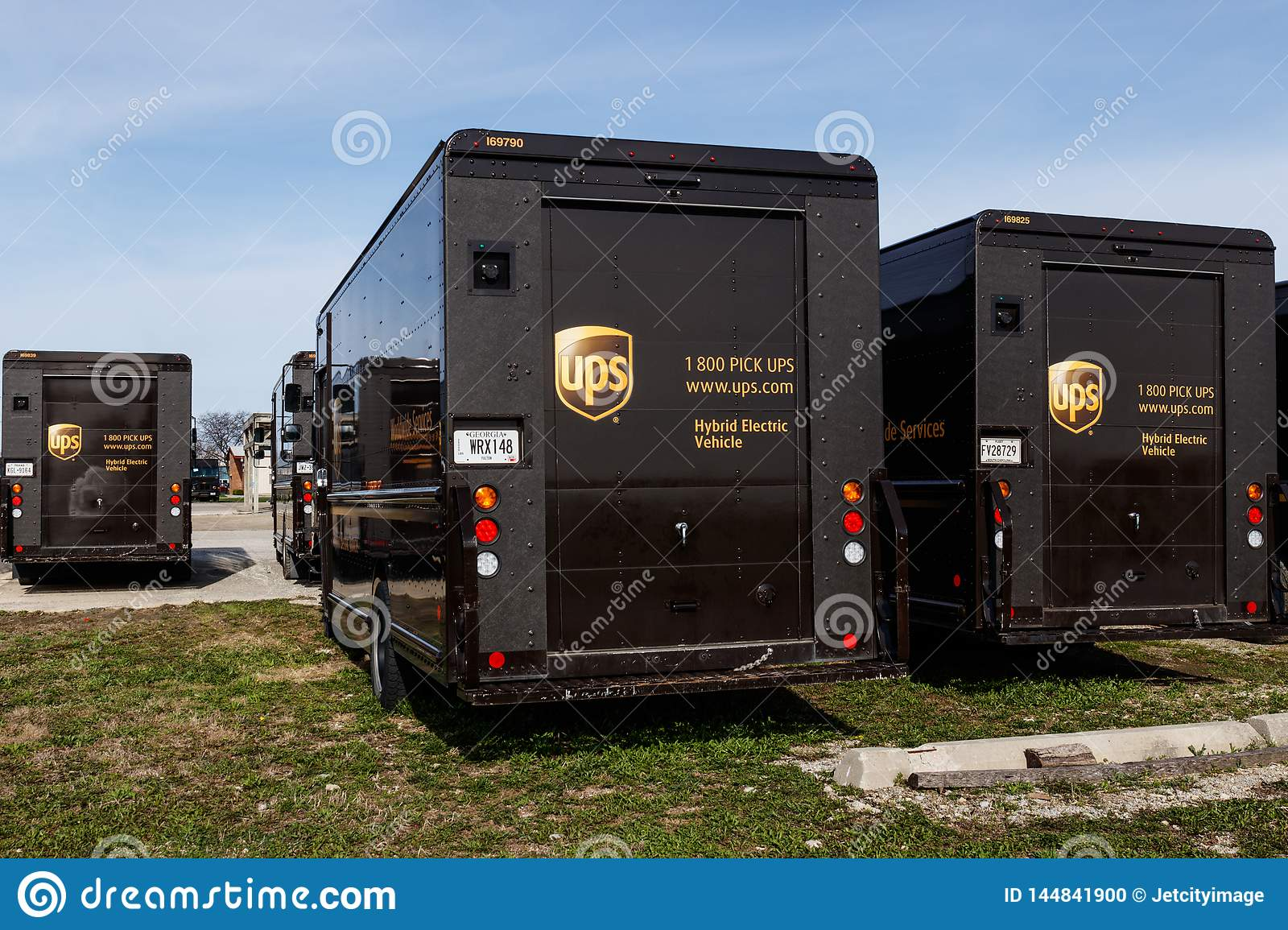 United Parcel Service hybrid electric vehicles. UPS is the World`s Largest Package Delivery Company III