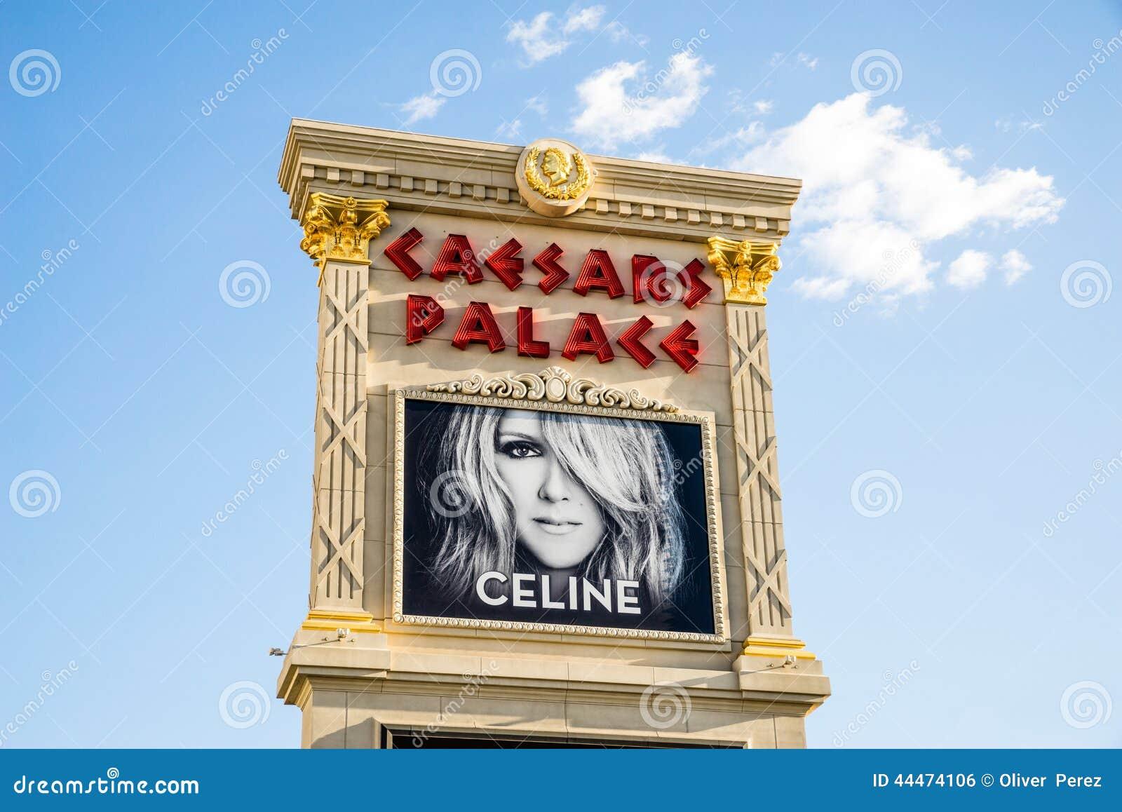 Celine Dion, bij Caesars Palace Las Vegas wordt gekenmerkt dat