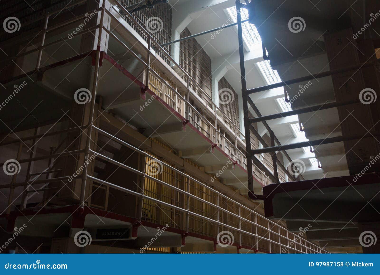 Alcatraz Prison Cell Block stock photo  Image of empty