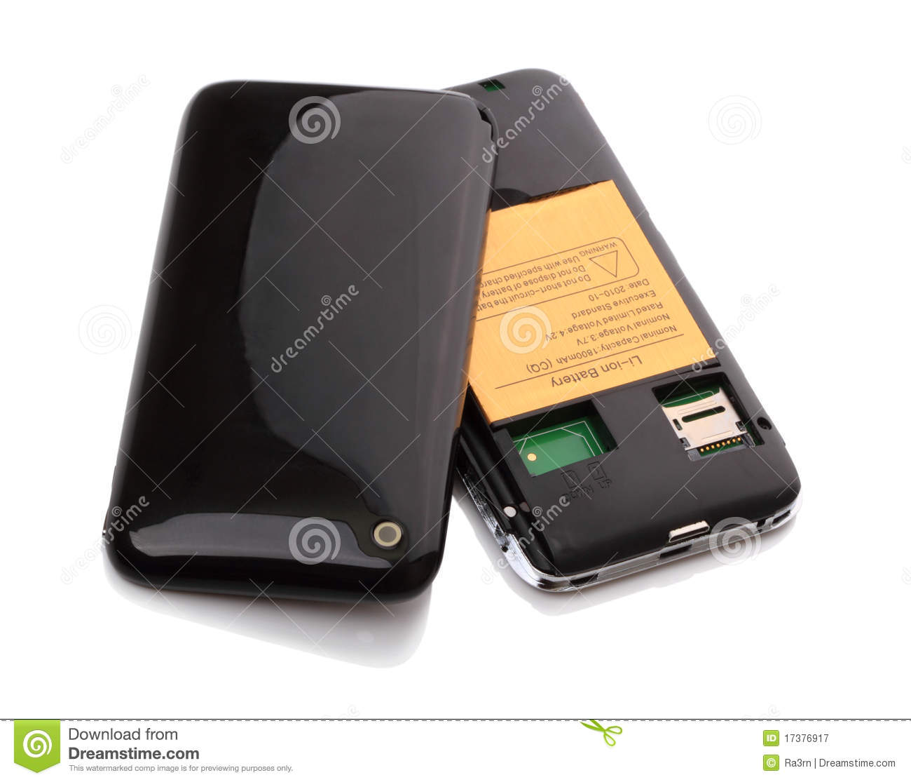 Download Cell Phone For 2 SIM Card Stock Image Of Data