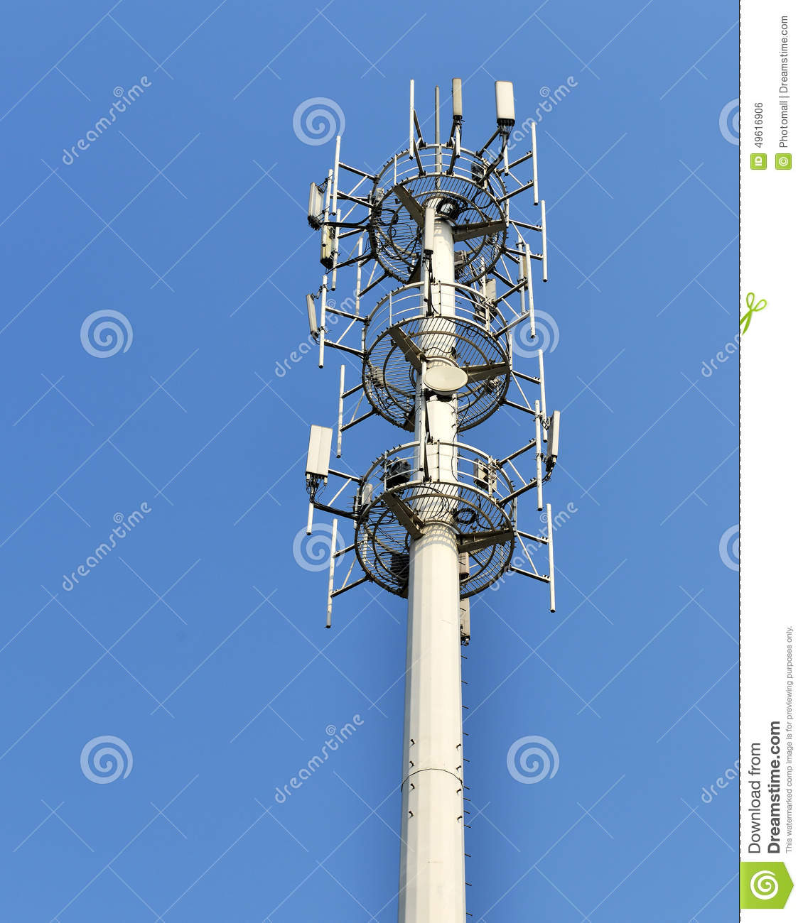 Cell Phone Antenna Tower Stock Photo. Image Of