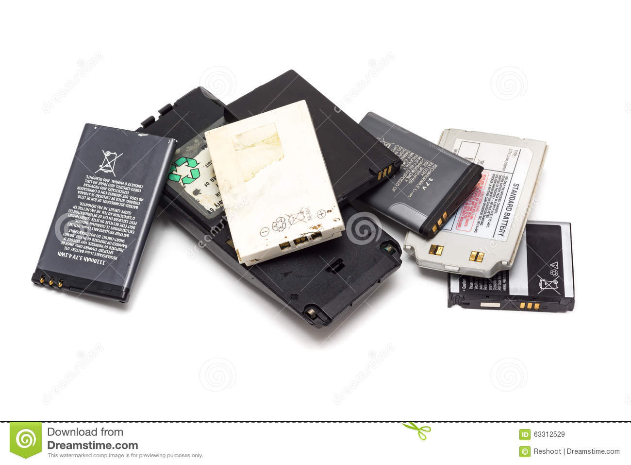 Cell phone battery stock image. Image of equipment, energy ...
