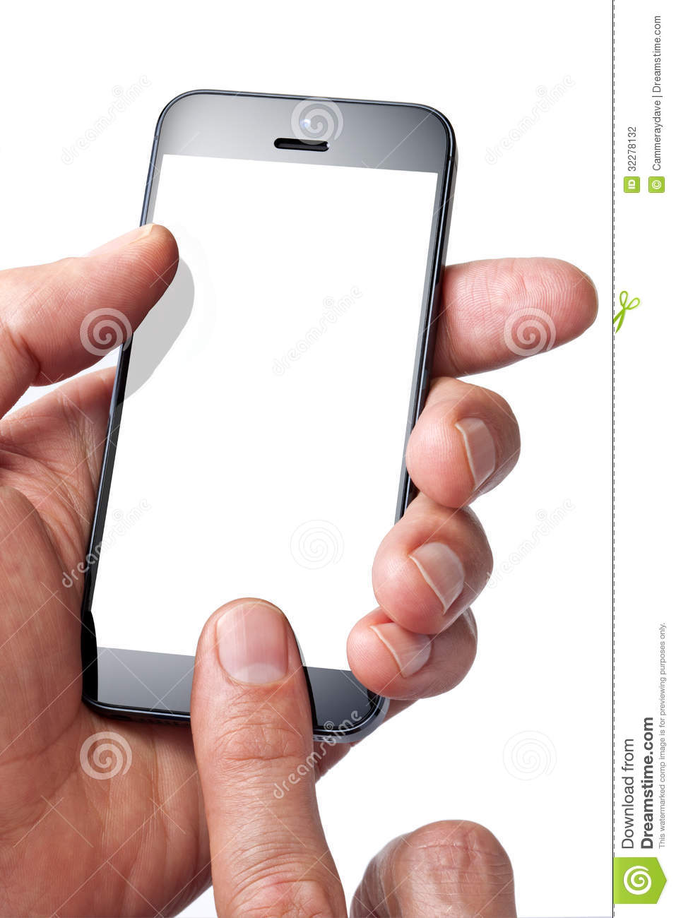 Cell Phone Hand Finger