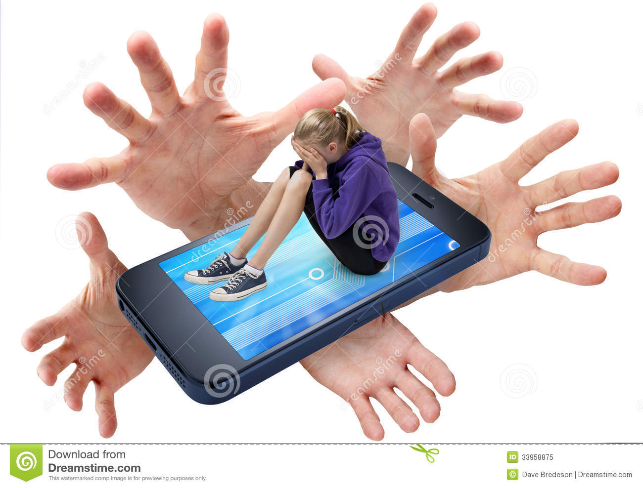 Cell Phone Bullying Social Media Royalty Free Stock Photo - Image ...