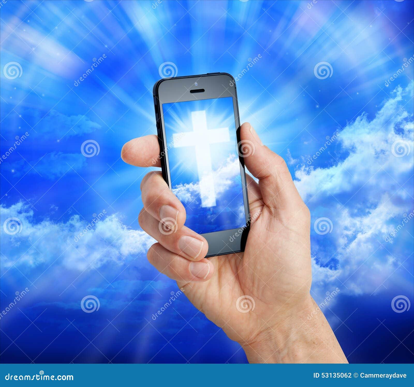 Cell Phone Christian Cross