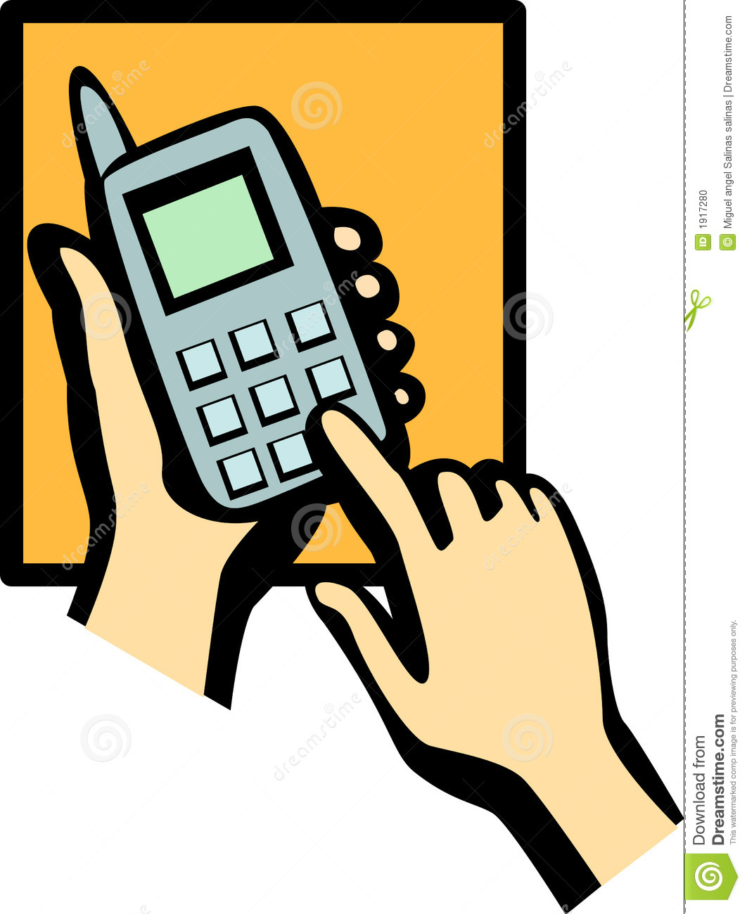 Cell Phone Dialing Vector Illustration Stock Photo - Image: 1917280