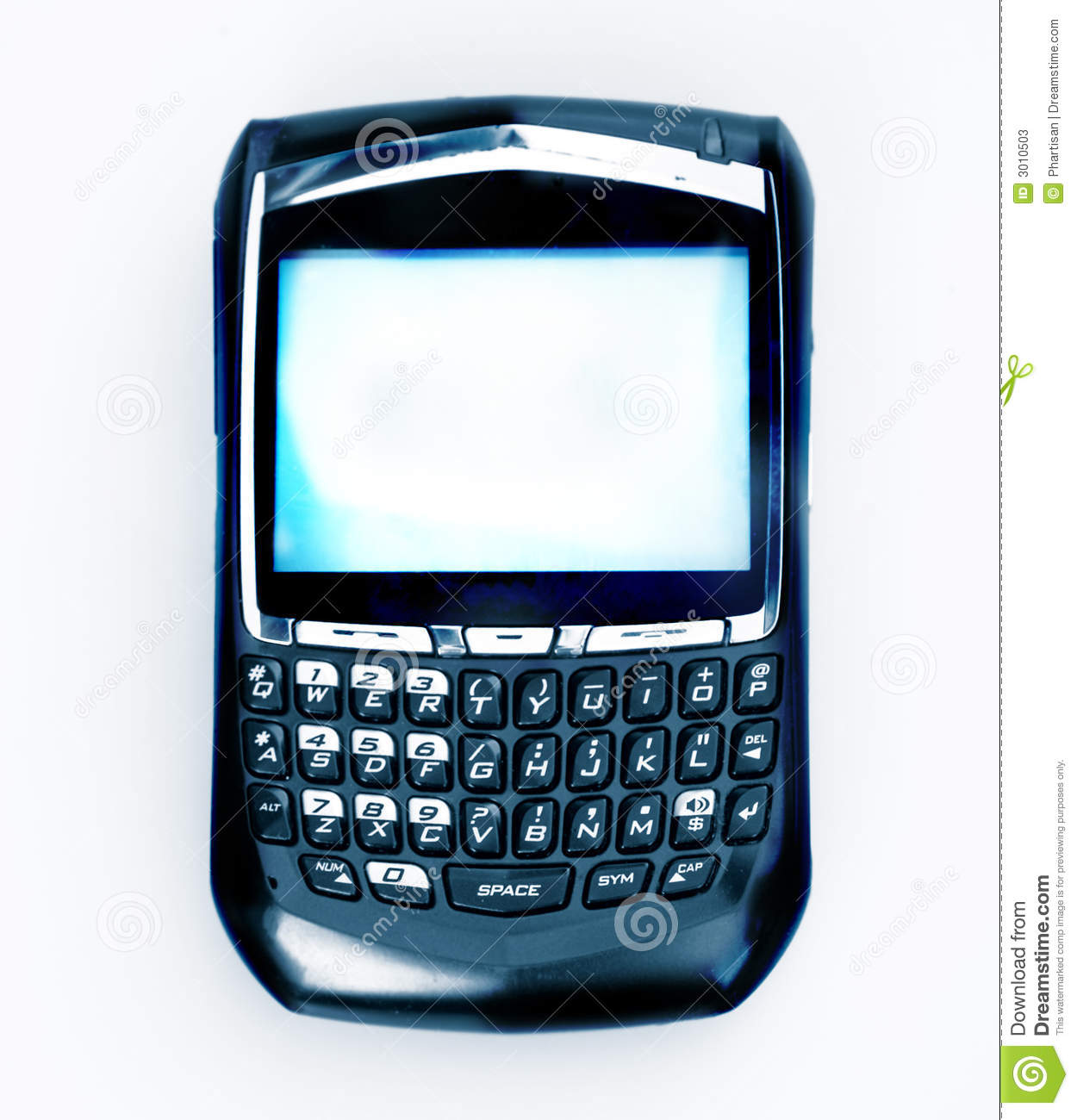 Cell Phone & Email Organizer Stock Image