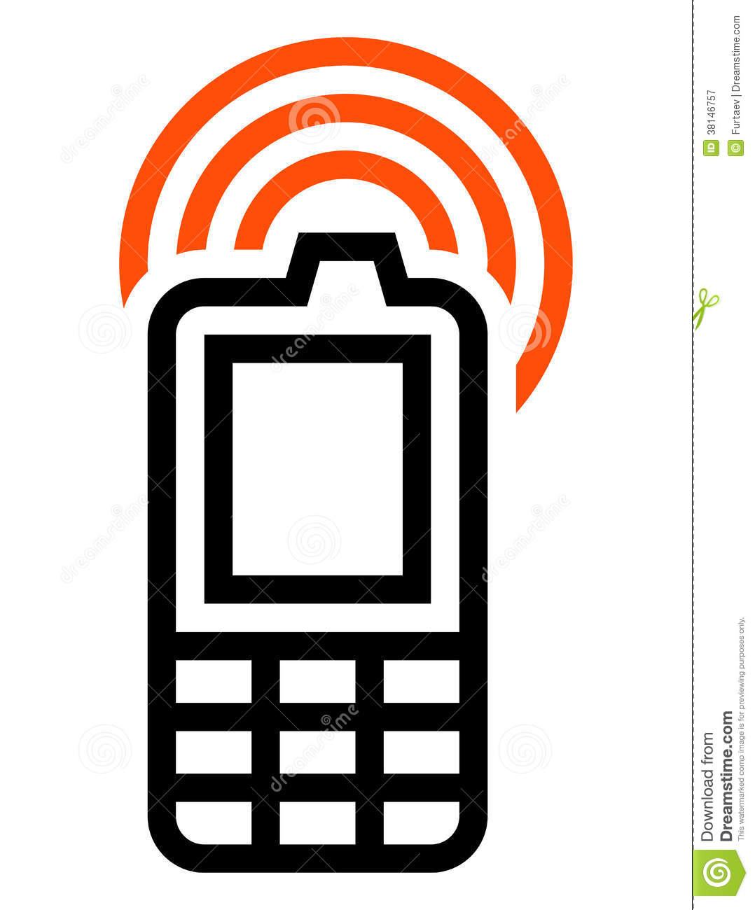 Pics photos cell phone clip art mobile phone icon royalty mobile - Cell Phone Icon Royalty Free Stock Photography Image