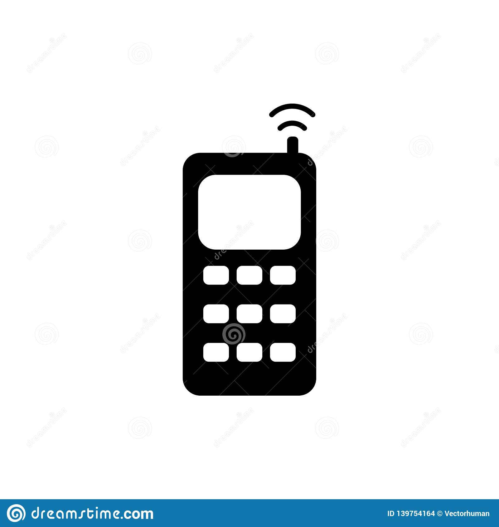 Cell Phone Icon >> Cell Phone Icon Stock Vector Illustration Of Illustration