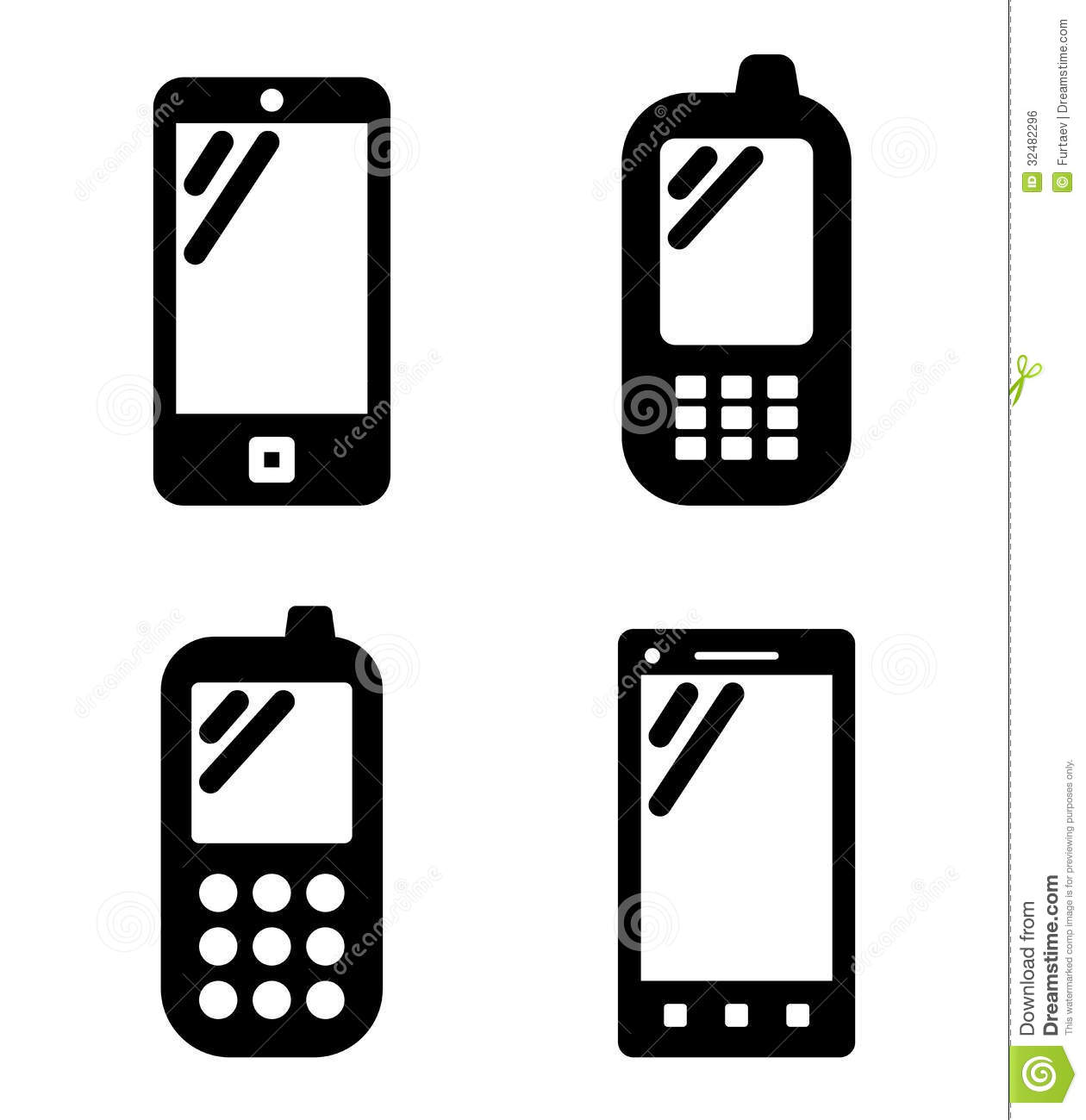 Cell Phone Signs Royalty Free Stock Image - Image: 32482296