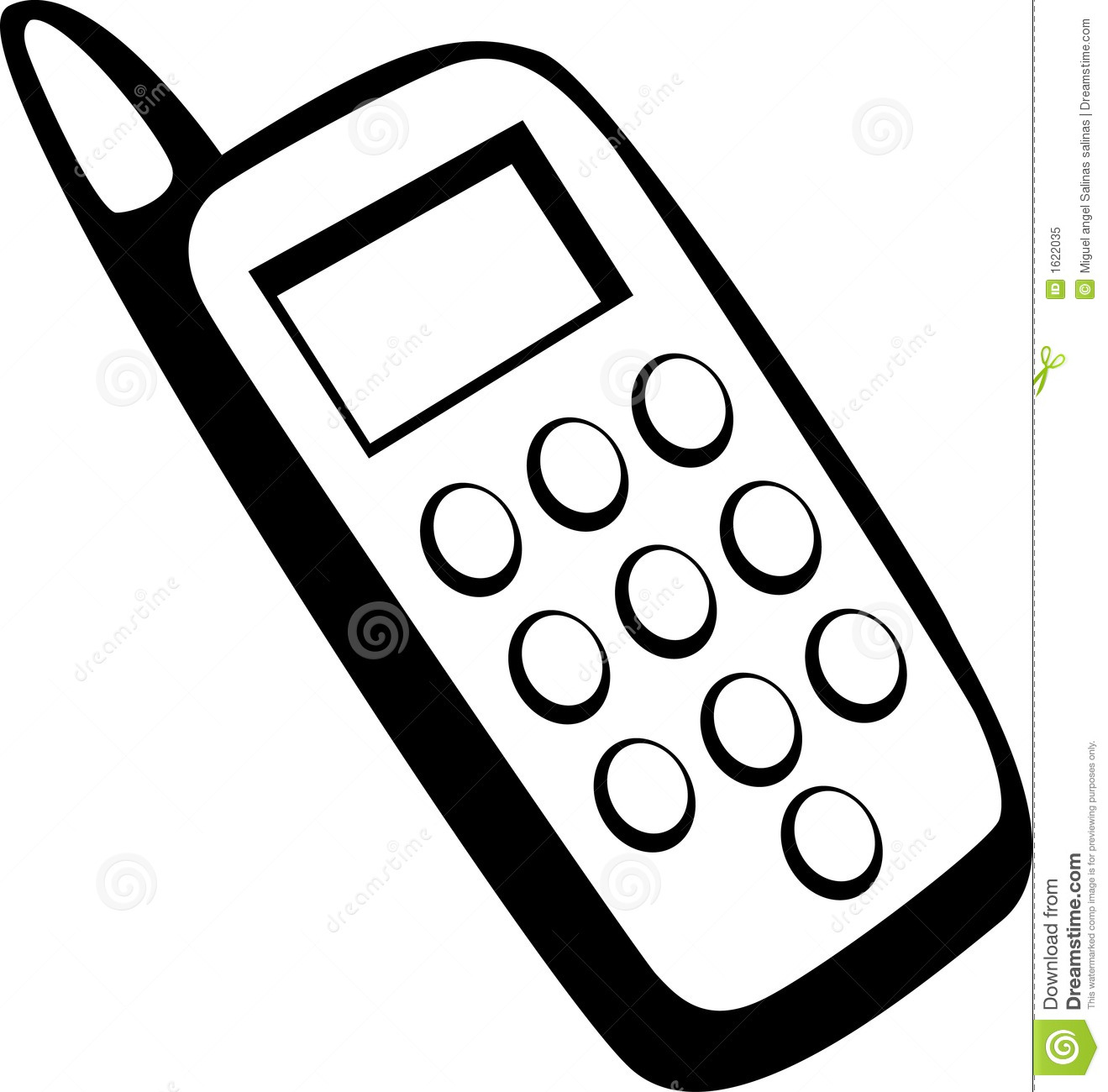 cell phone vector illustration stock vector