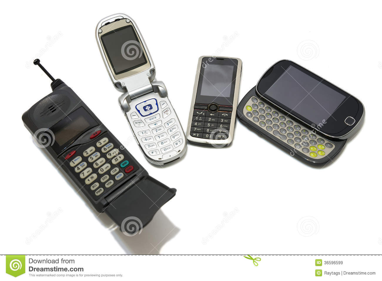 Cell Phones Royalty Free Stock Images Image 36596599