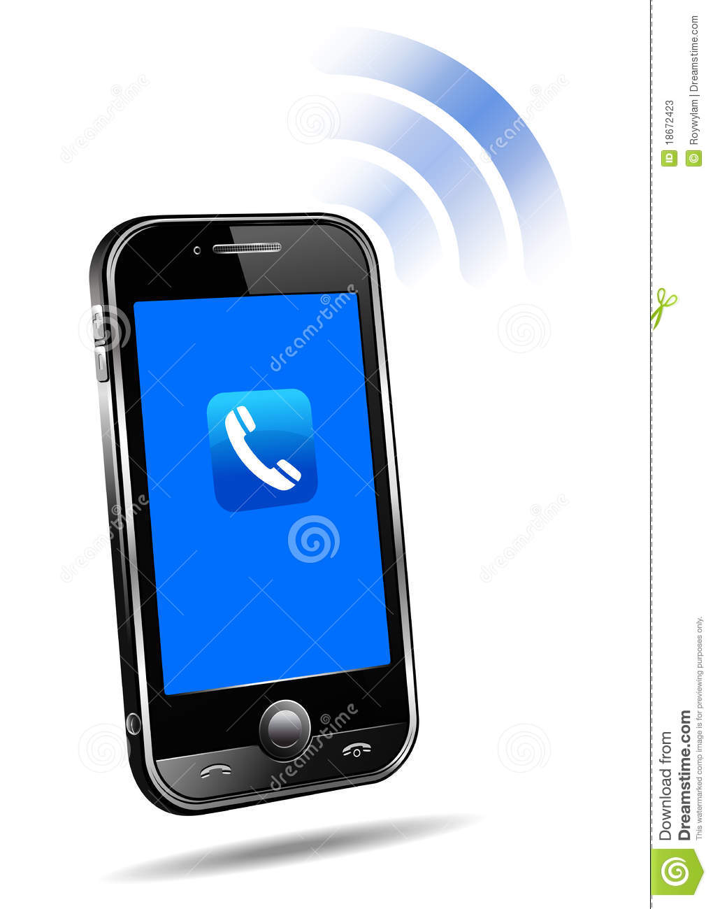 Ringing Cell Phone Clip Art Images & Pictures - Becuo