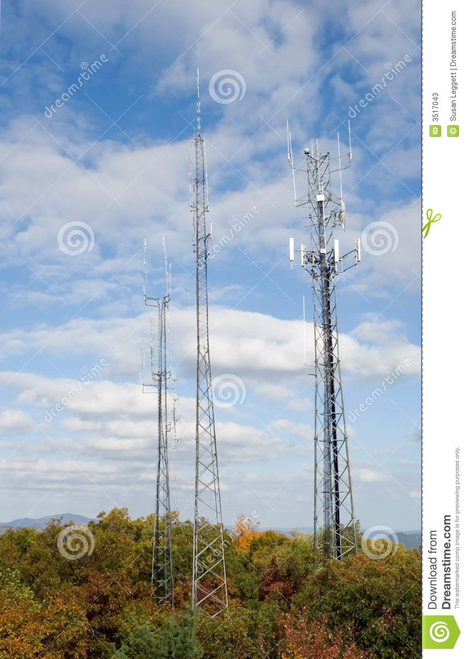 Cell towers on the mountain