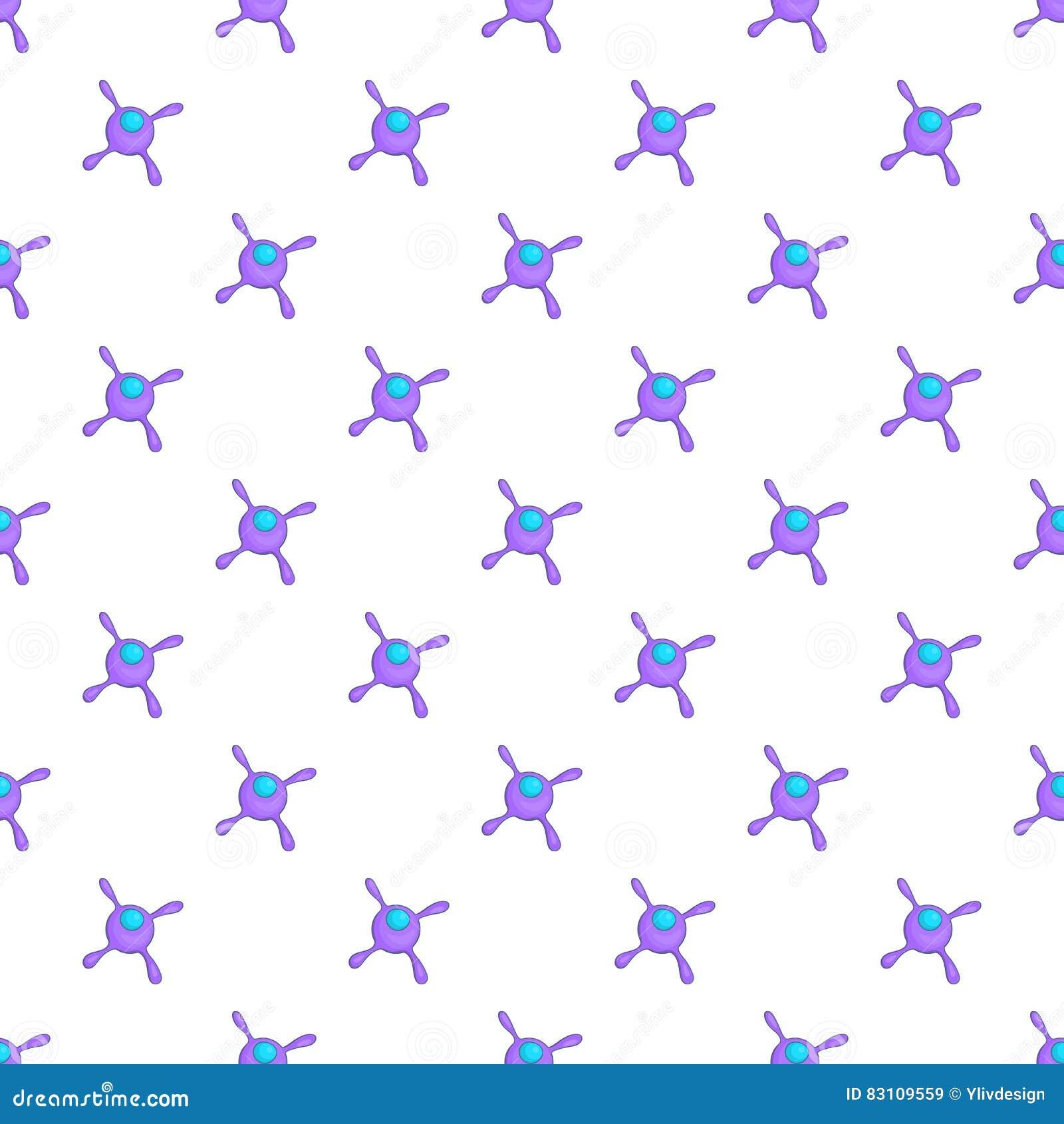 Viral Times Web: Cell Virus Pattern, Cartoon Style Stock Vector