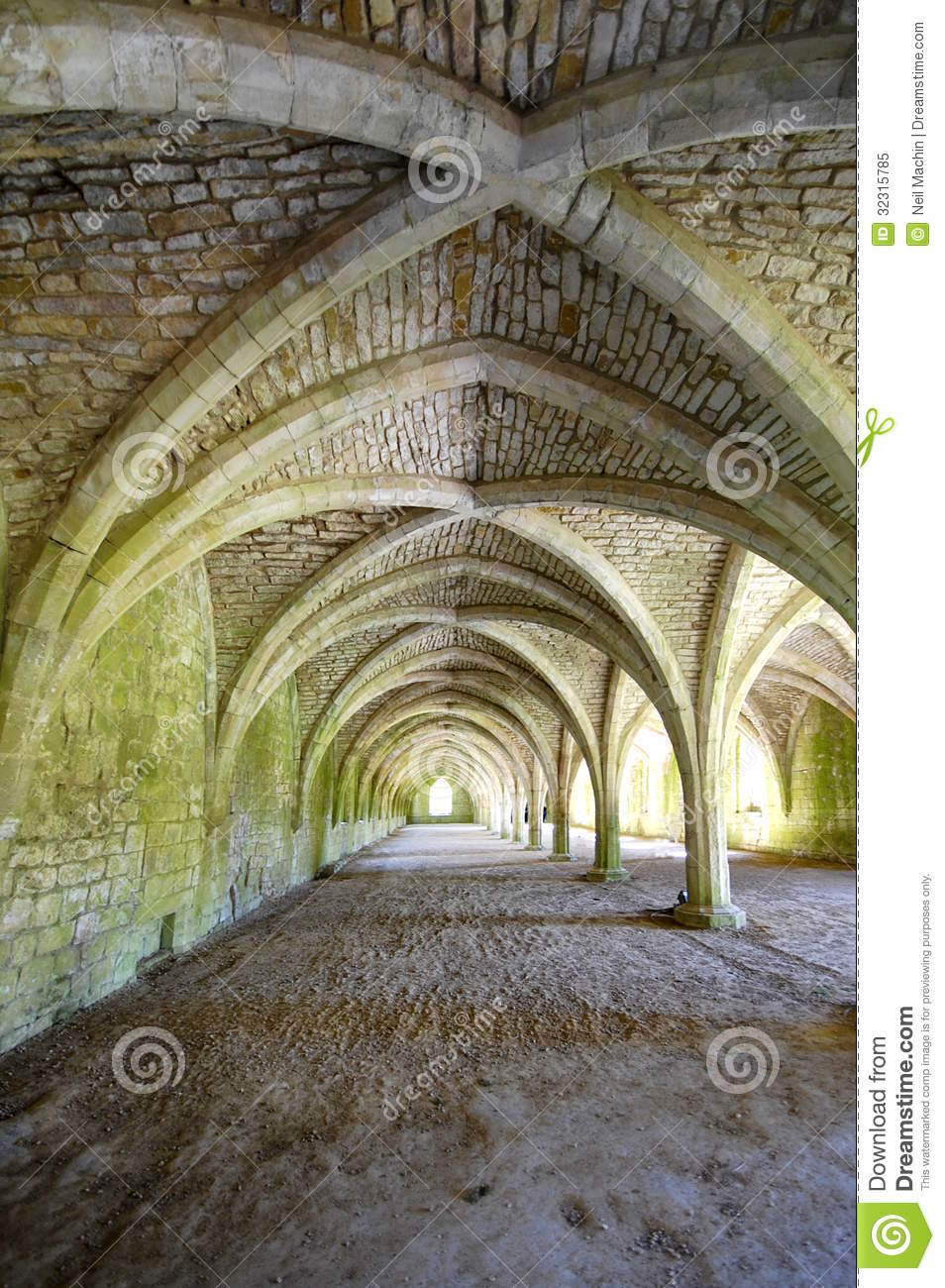 Cellarium With Vaulted Ceiling Fountains Abbey Royalty