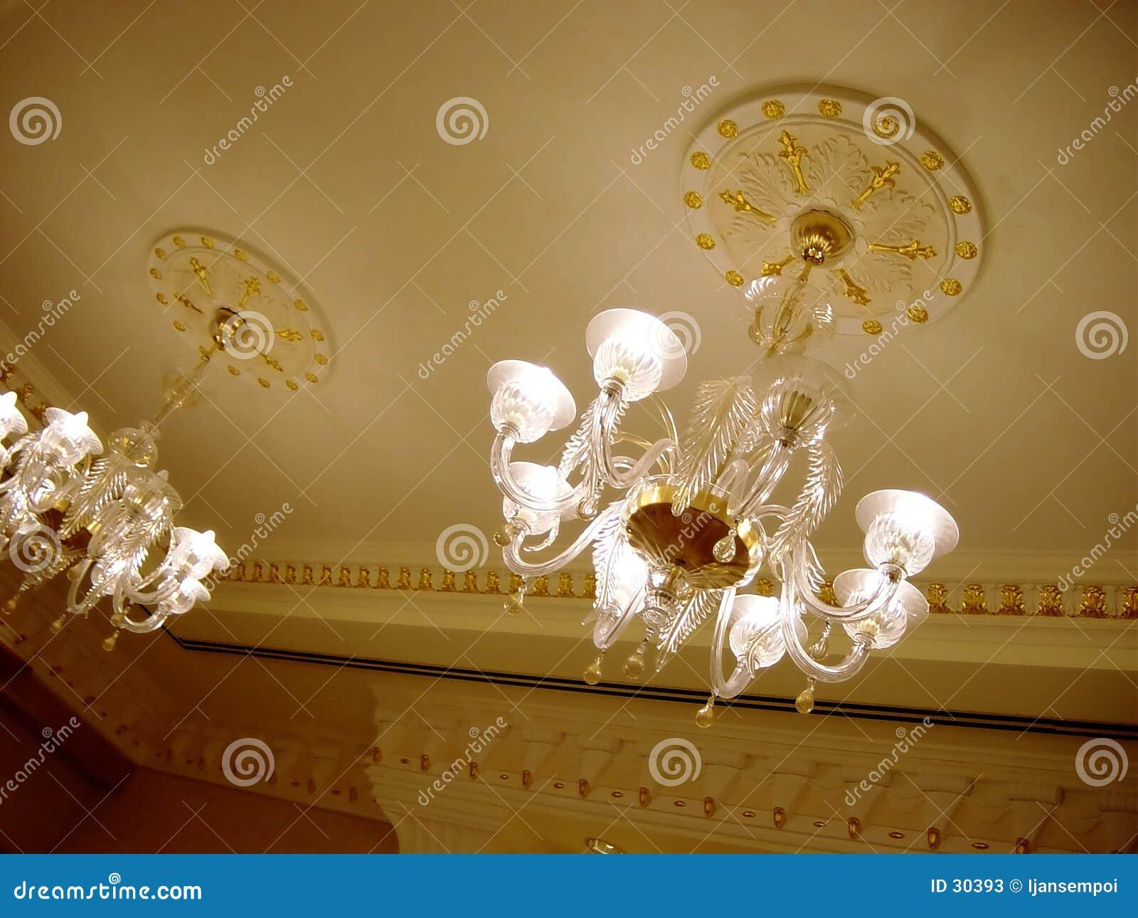Download Celling del hotel imagen de archivo. Imagen de lujo, lámpara - 30393
