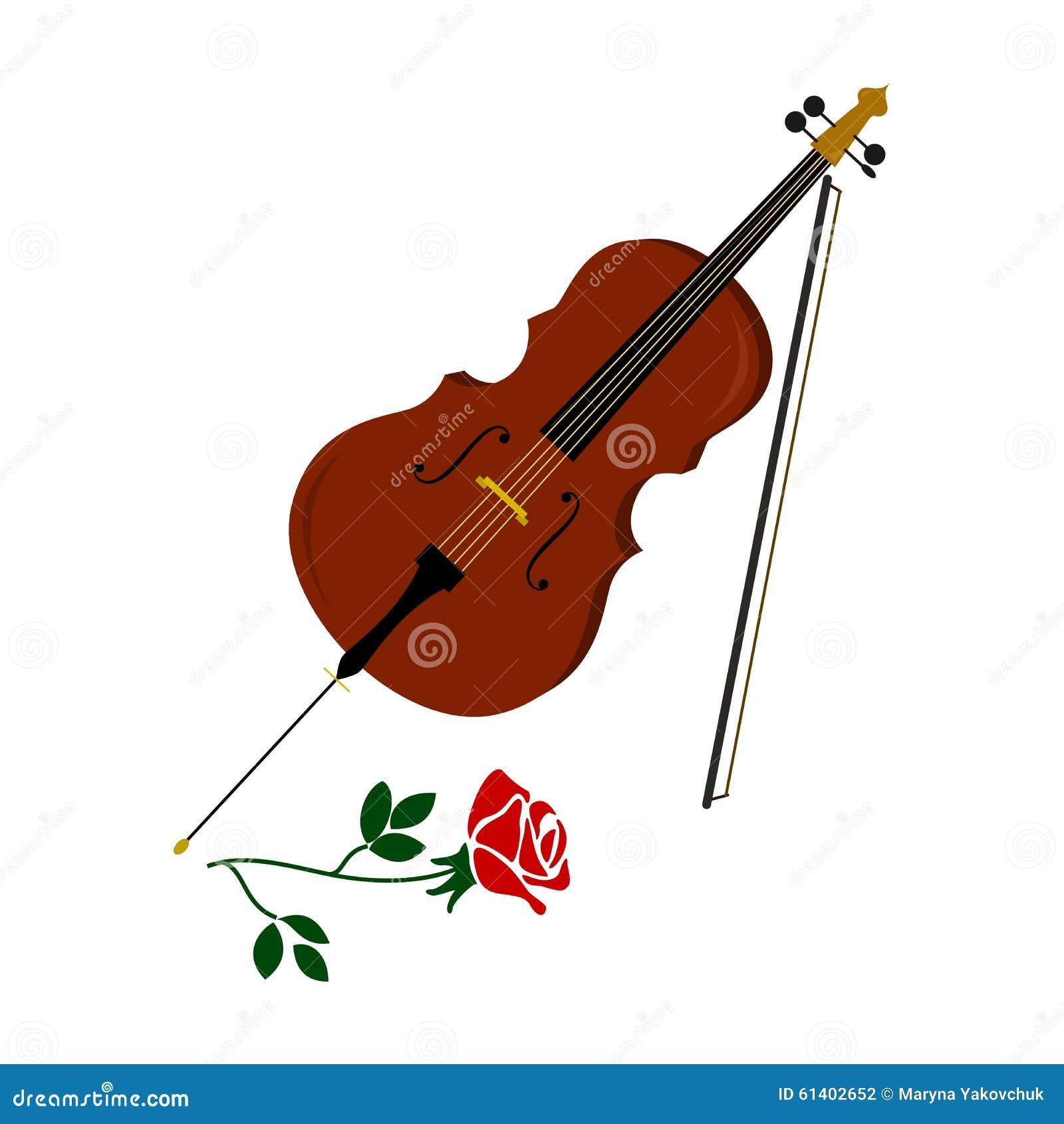 Cello cartoon cello player stock photography image 32561422 - The Cello And Rose Stock Photography