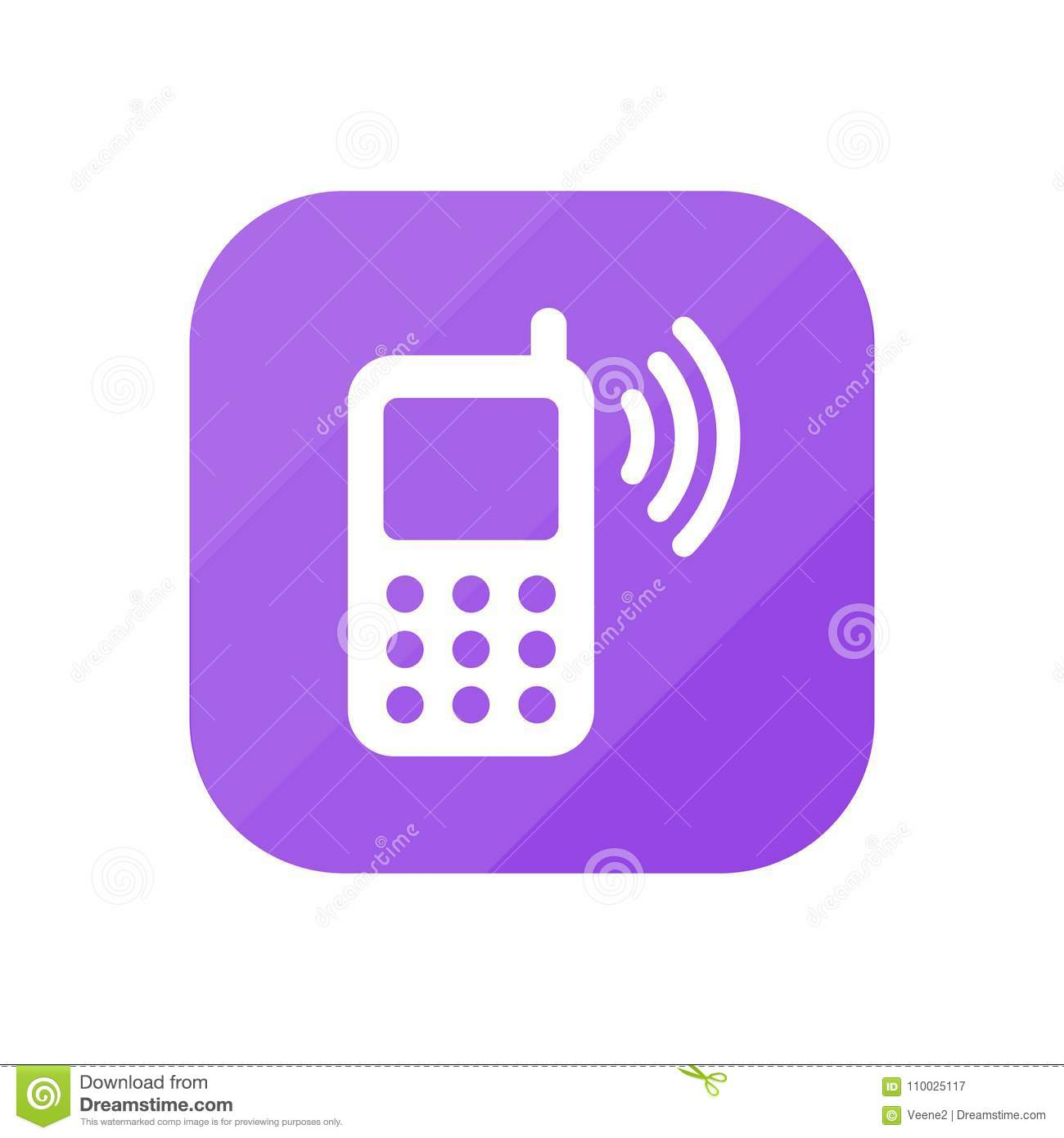 Cellphone die - App Pictogram bellen