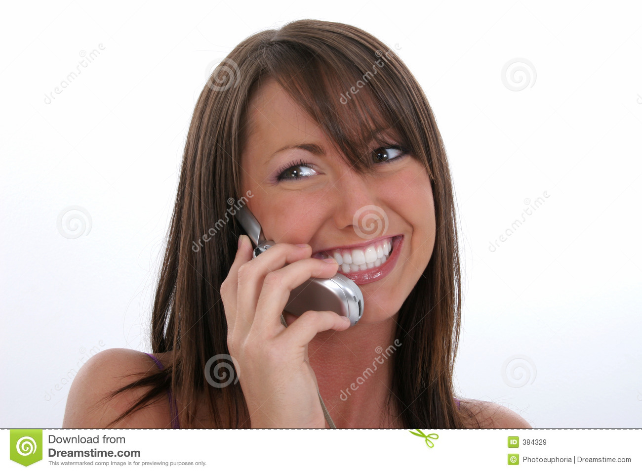 Cellphone happy speaking woman young