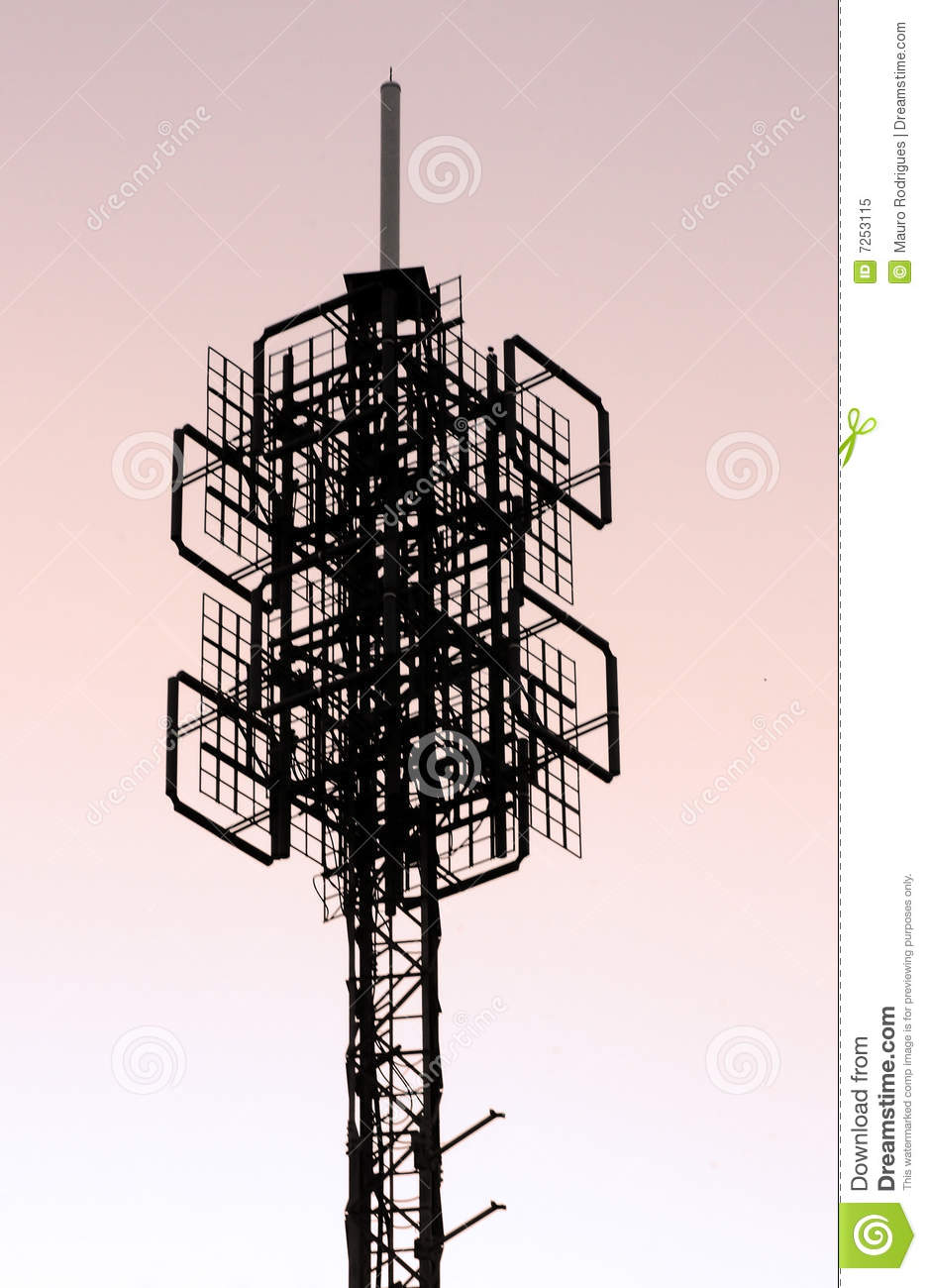 Broadcast Tower Vector Cellphone Tower Struct...