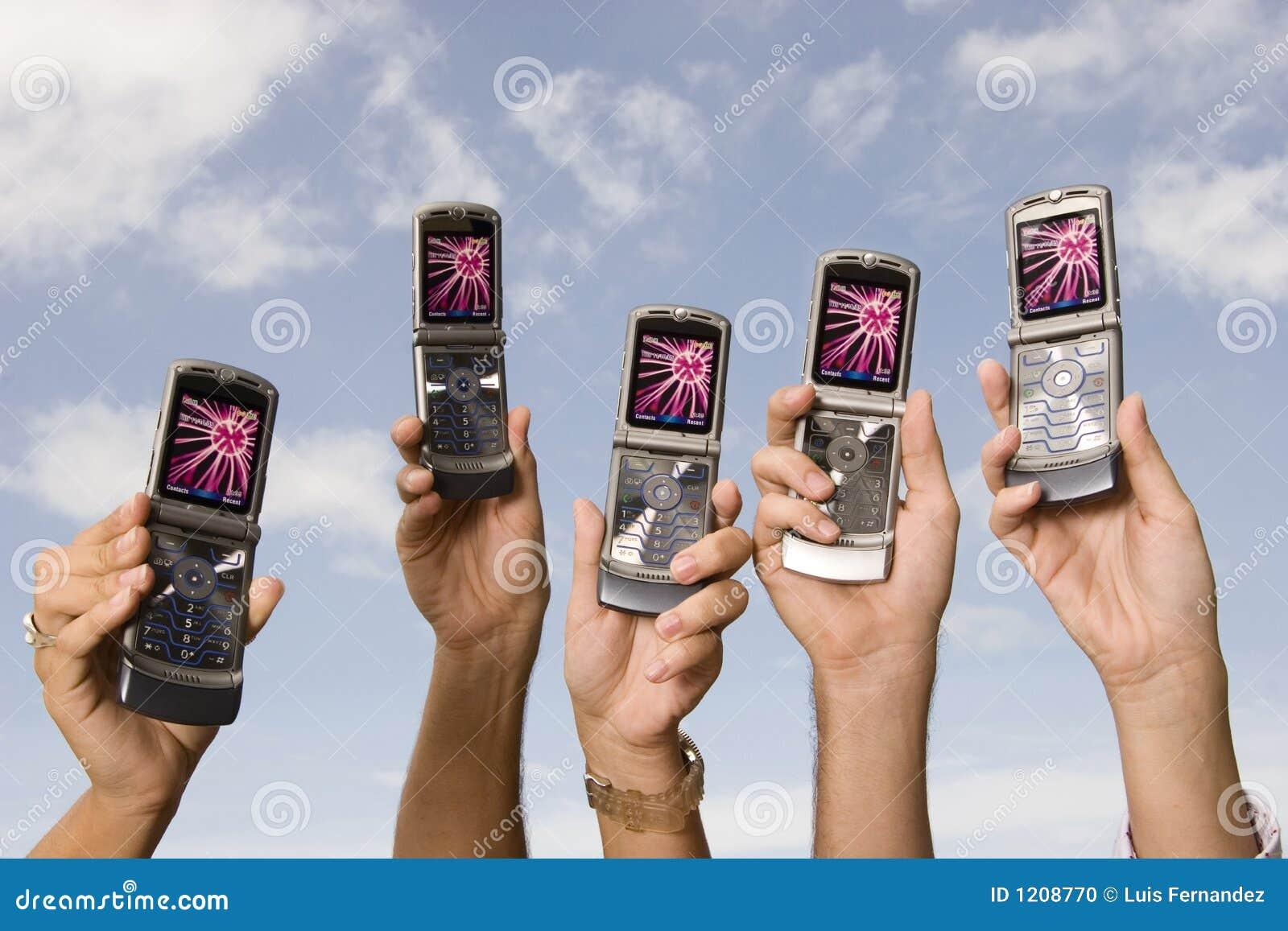 Cellphones in de lucht