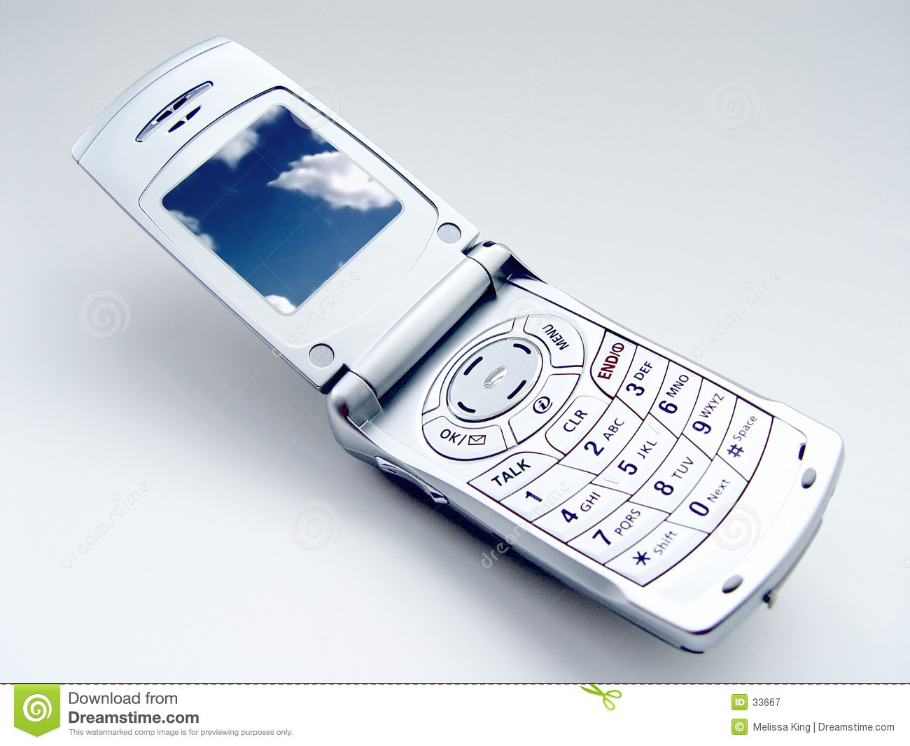 Cellular phone with Clouds