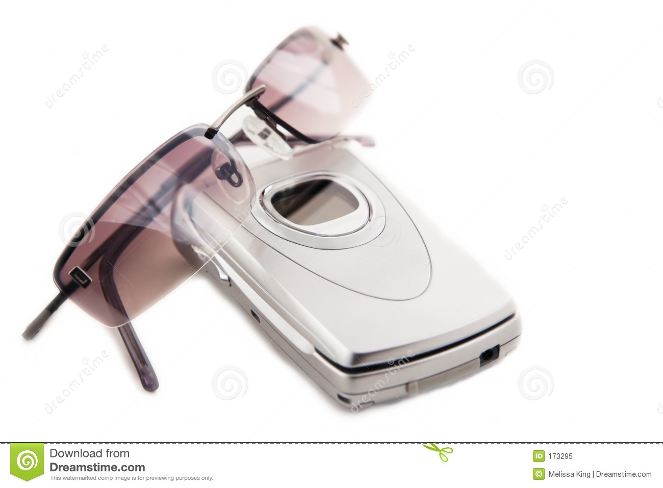 Cellular Phone and Sunglasses