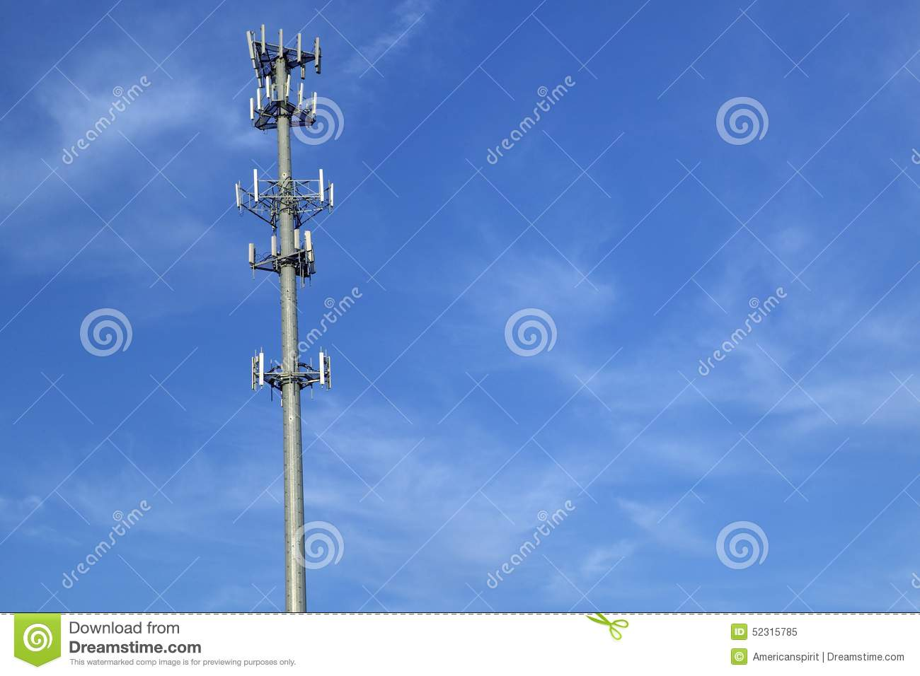 Download Cellular Telephone Transmission Tower, Route 95 Virginia Stock Image - Image of below, engineering: 52315785