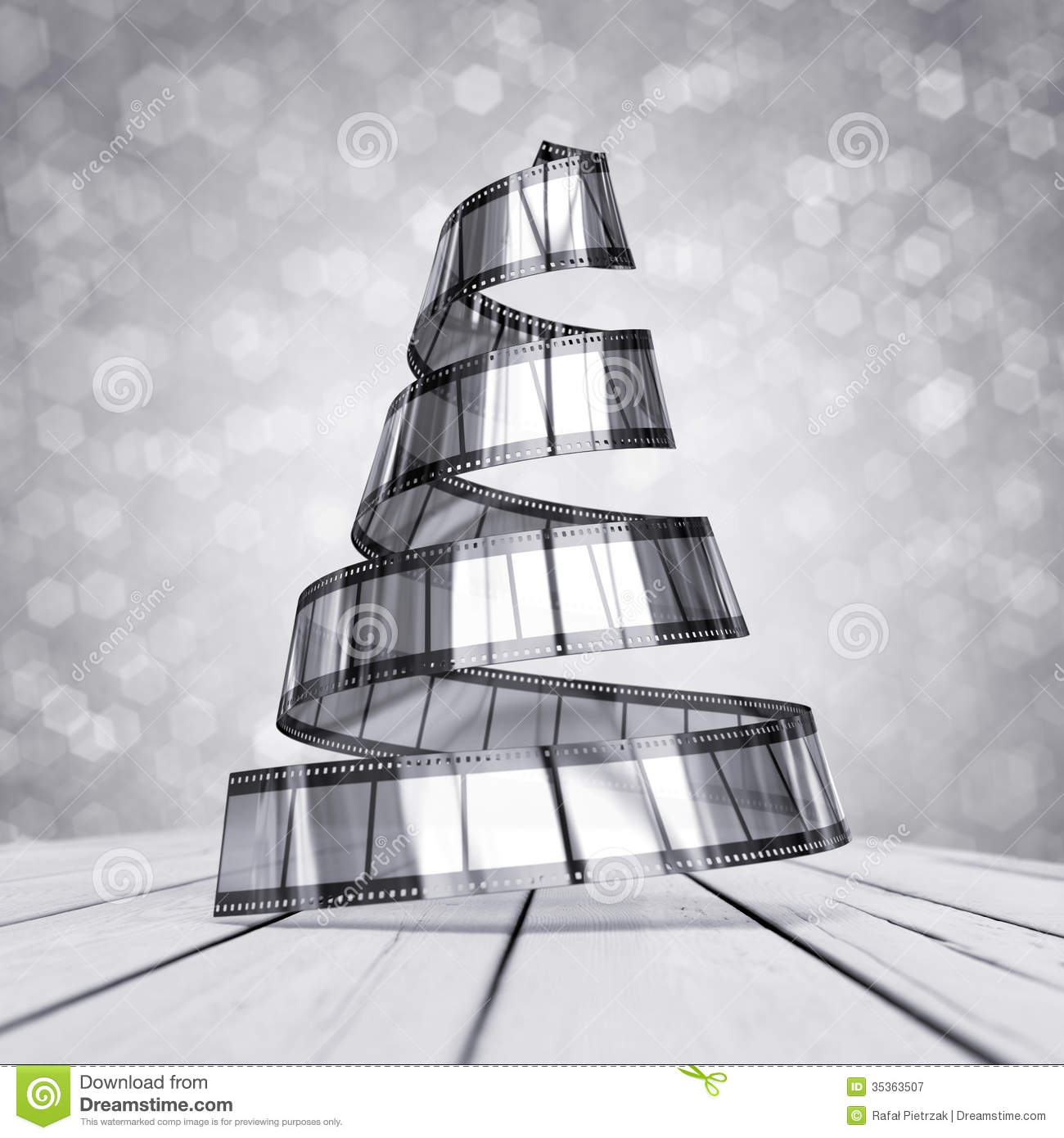 Celluloid Christmas Tree Illustration 35363507 Megapixl