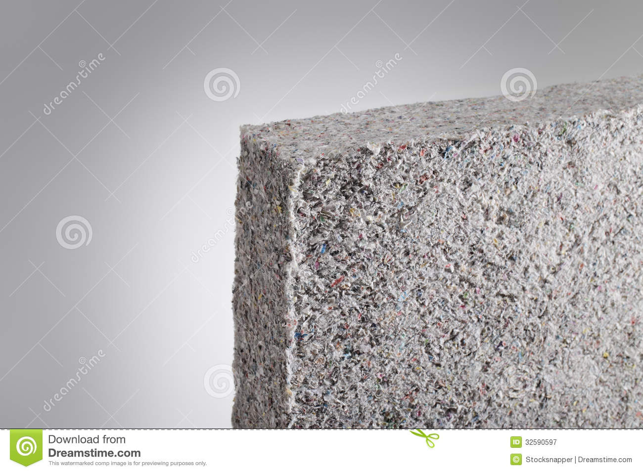 Thermal Batt Insulation : Cellulose insulation royalty free stock photography