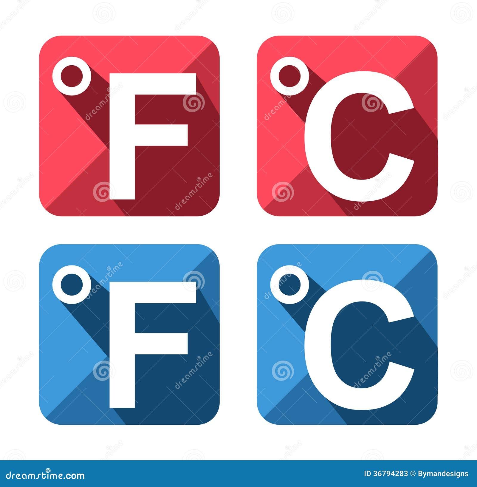 Celsius and fahrenheit symbol icon set stock vector illustration celsius and fahrenheit symbol icon set biocorpaavc Choice Image
