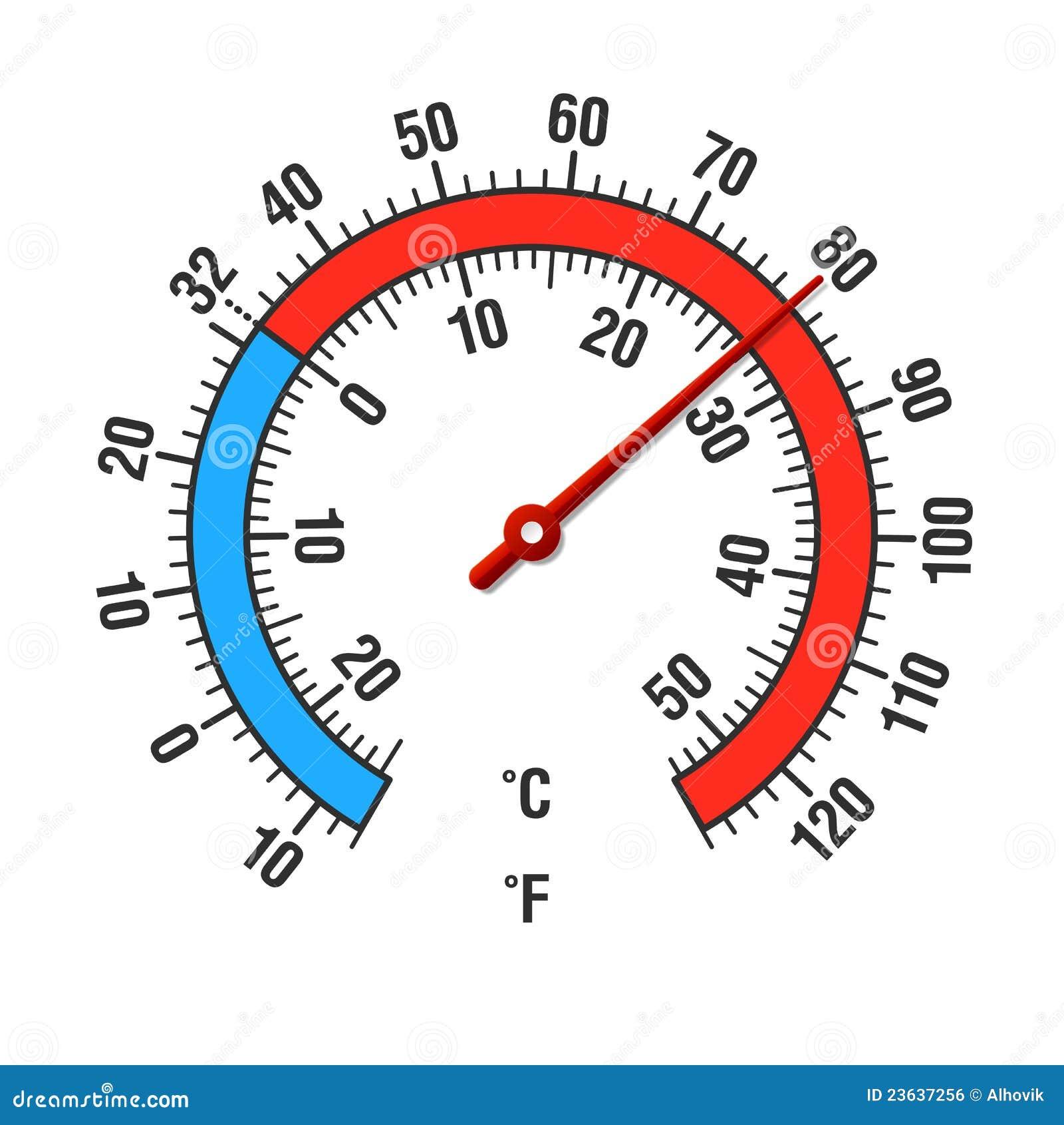 Celsius und Fahrenheit Thermometer Vektor Abbildung   Illustration ...
