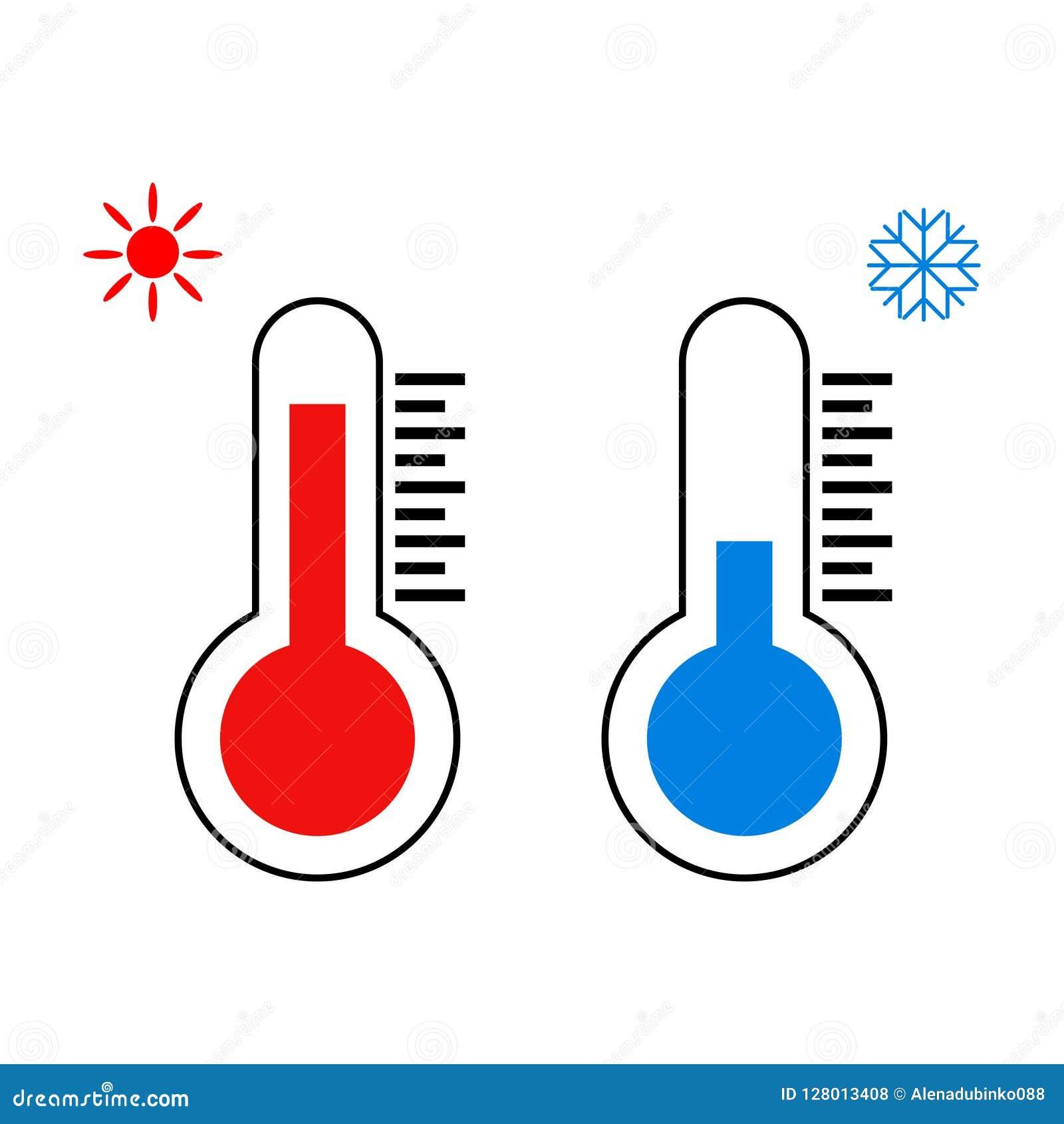Celsiust och Fahrenheit Termometrar som mäter värme och förkylning