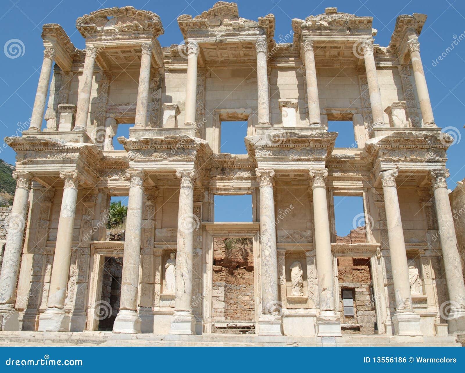 Celsus Library In Ephesus Asia Minor Turkey Royalty