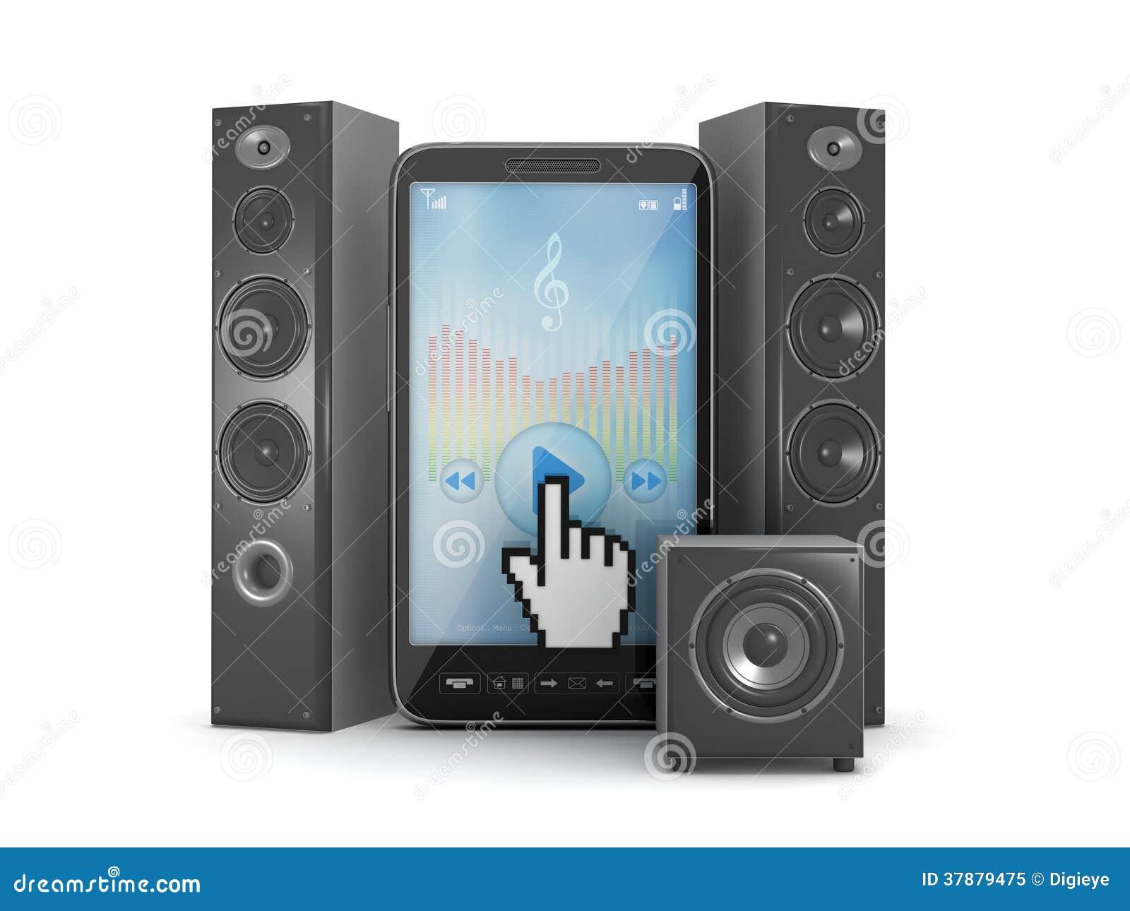 Celtelefoon als muziekspeler en audiosprekers