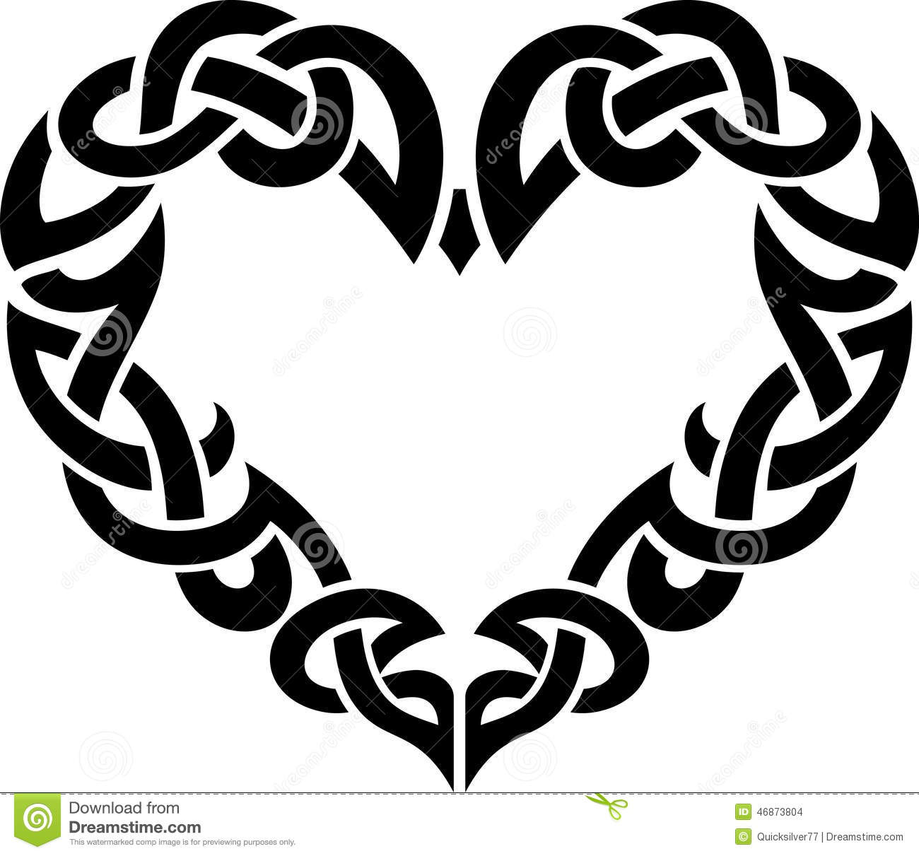 Intertwined Hearts Celtic Abstract Heart ...