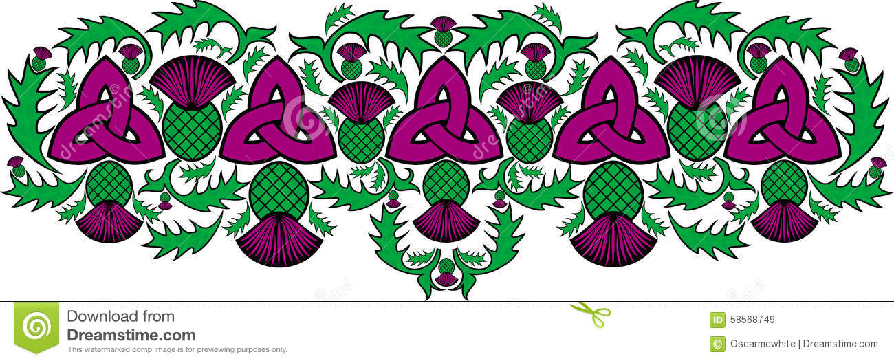 celtic border with flowers of the thistle stock vector celtic border vector free celtic border vector free