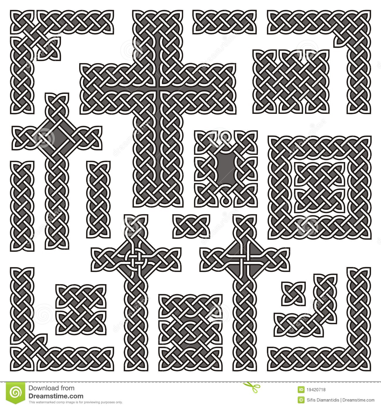 how to draw a celtic knot border