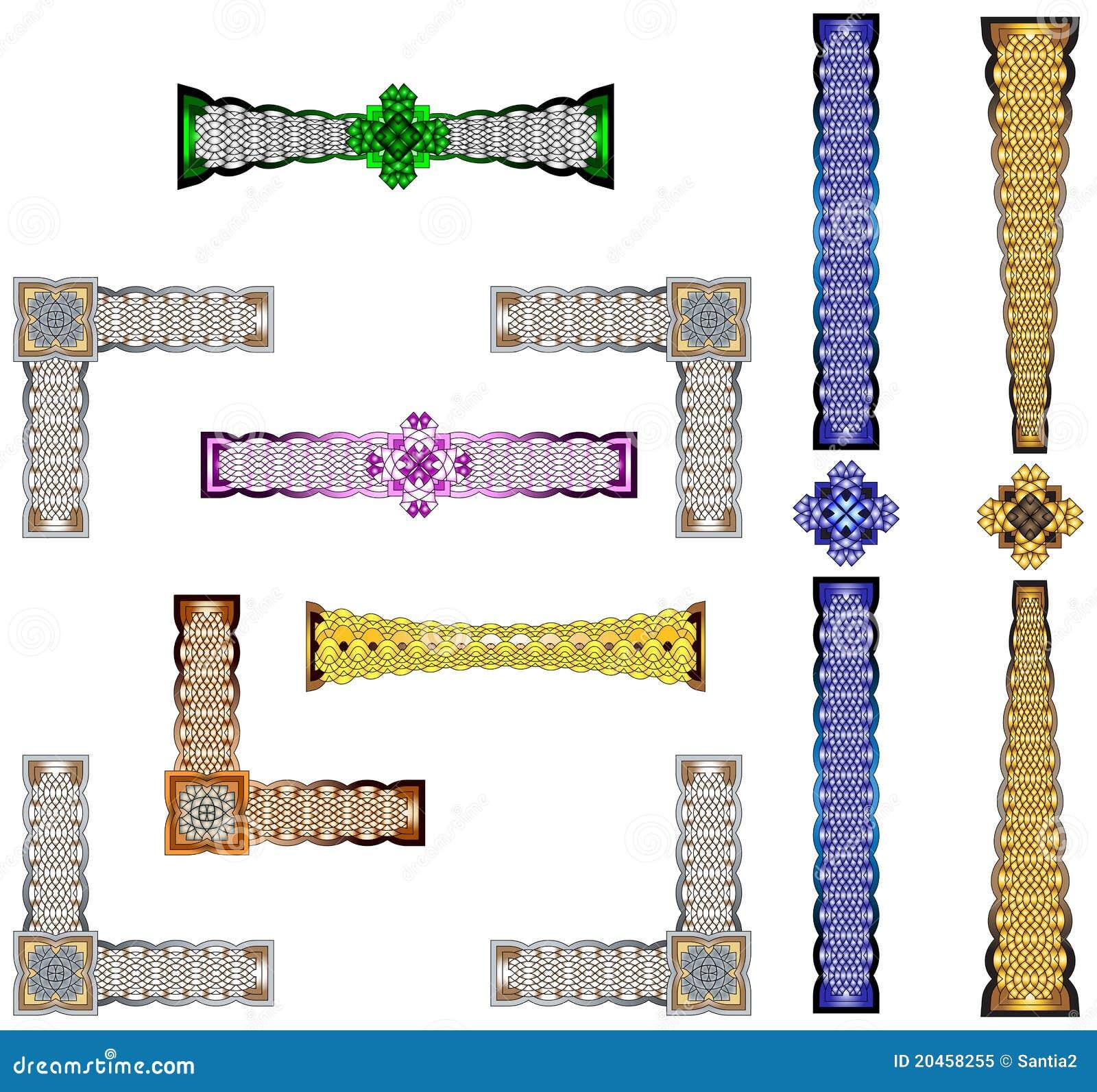Celtic Borders Designs Royalty Free Stock Photo Image