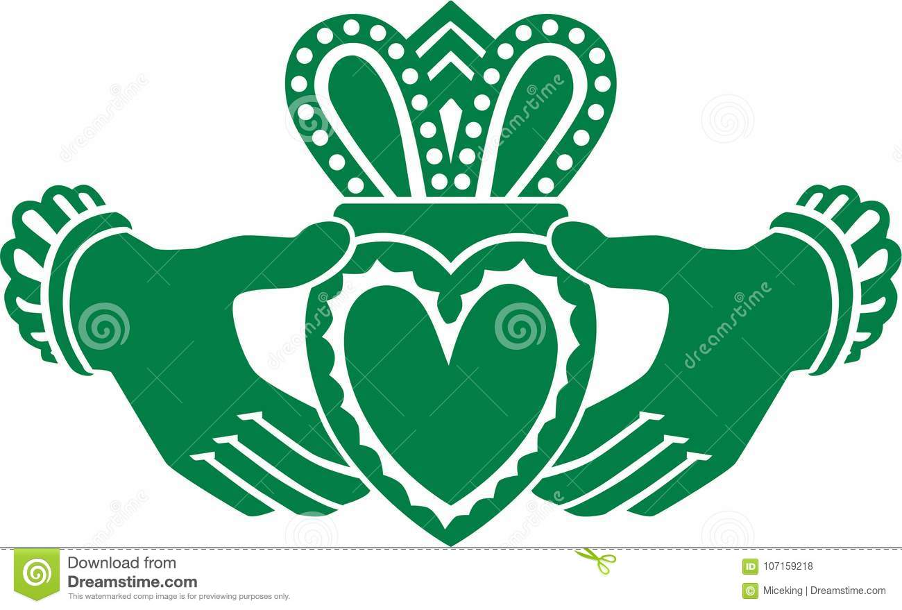 Celtic Claddagh Vector Stock Vector Illustration Of Silhouette 107159218