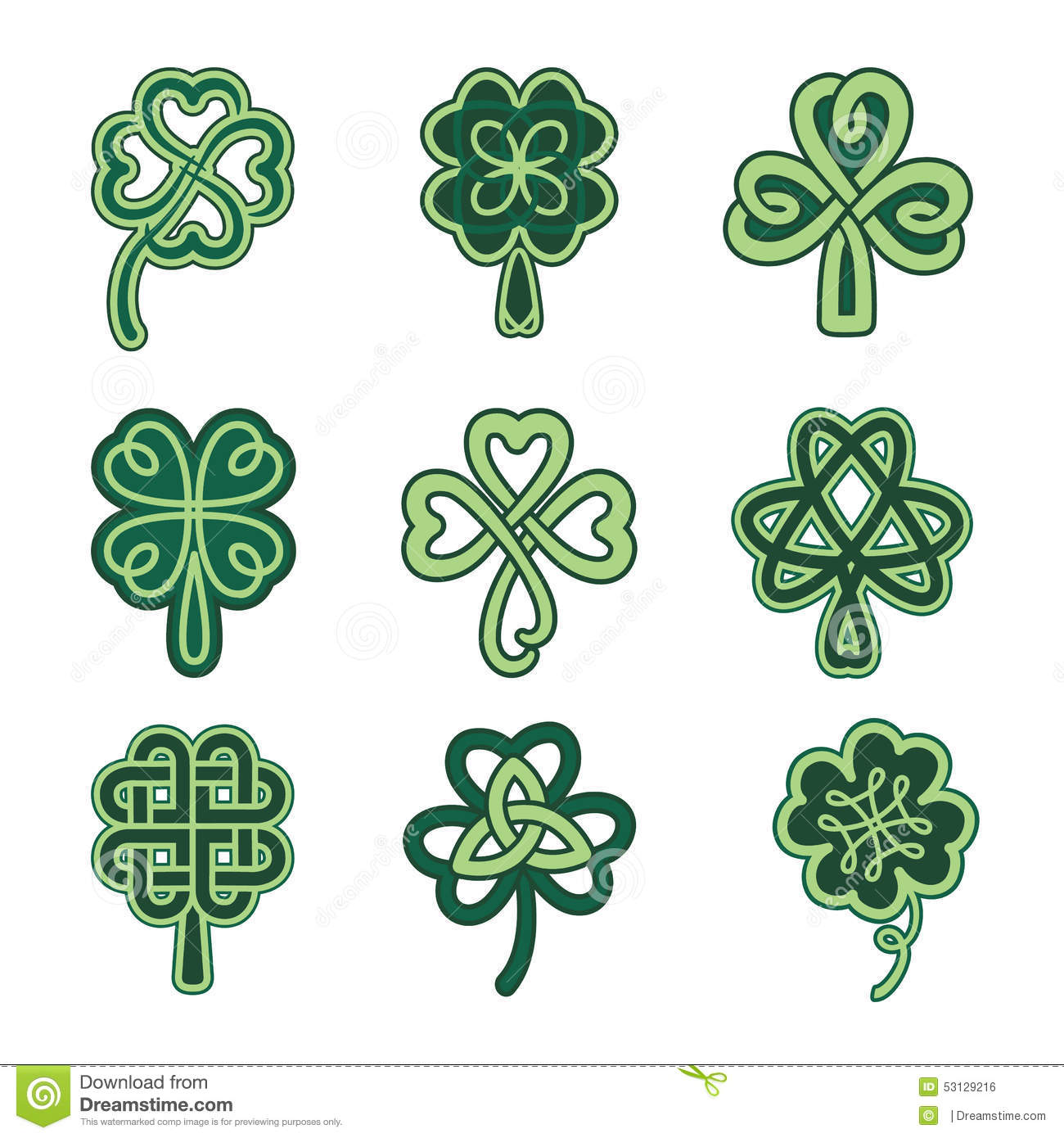 Celtic Clover Stock Vector Image: 39807847 - 1300x1390 - jpeg