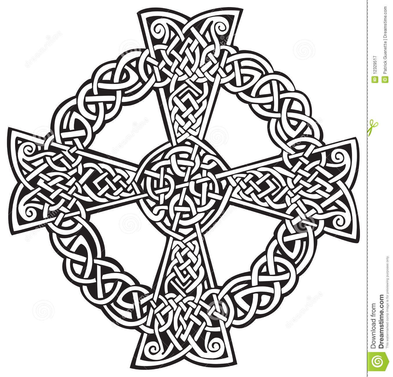 Celtic cross stock vector image of graphic white abstract celtic cross voltagebd Gallery